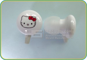 Pink Ear Buds Printed with Kitty Suitable for Girls Wholesaler