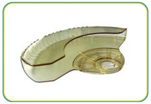 ABS Translucent PP plastic part-(HS-123)