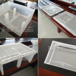 Large Translucent PP Plastic Storage Containers Injection Parts Plastics
