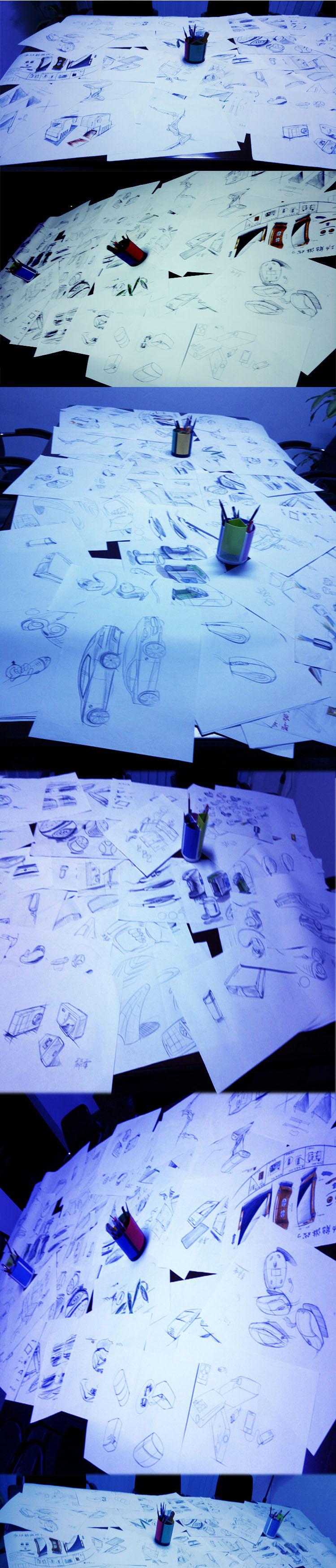 Industrial Design Hand Drawings